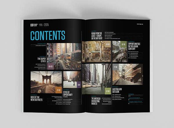 cities report layout template