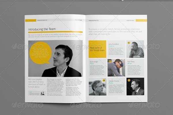 professional report layout template