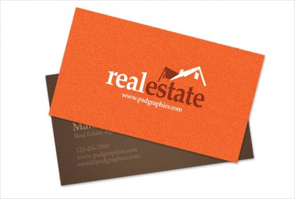 Real Estate Business Card Layout Design