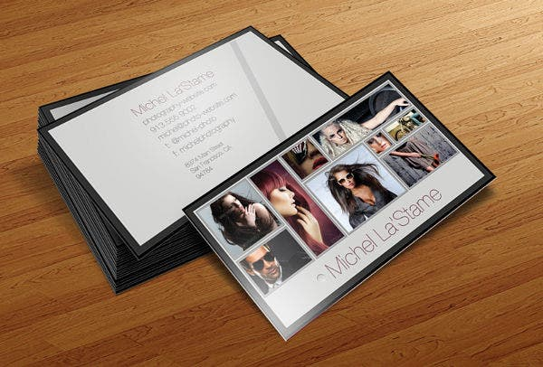 Photography Business Card Layout Design