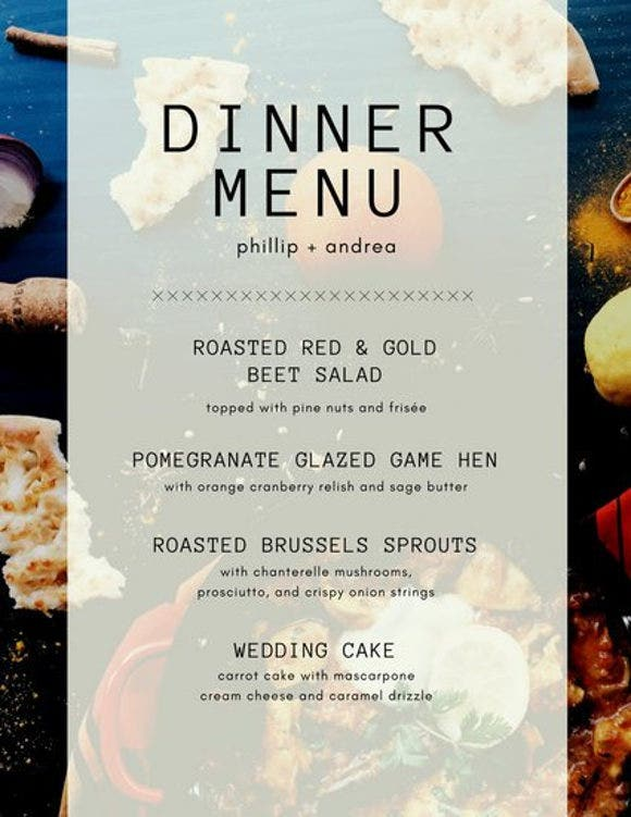 8 menu layout templates free psd eps format download for Easy menu templates free