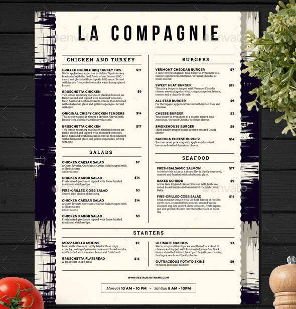 food-menu-layout-template