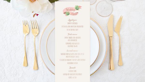 menu layout template