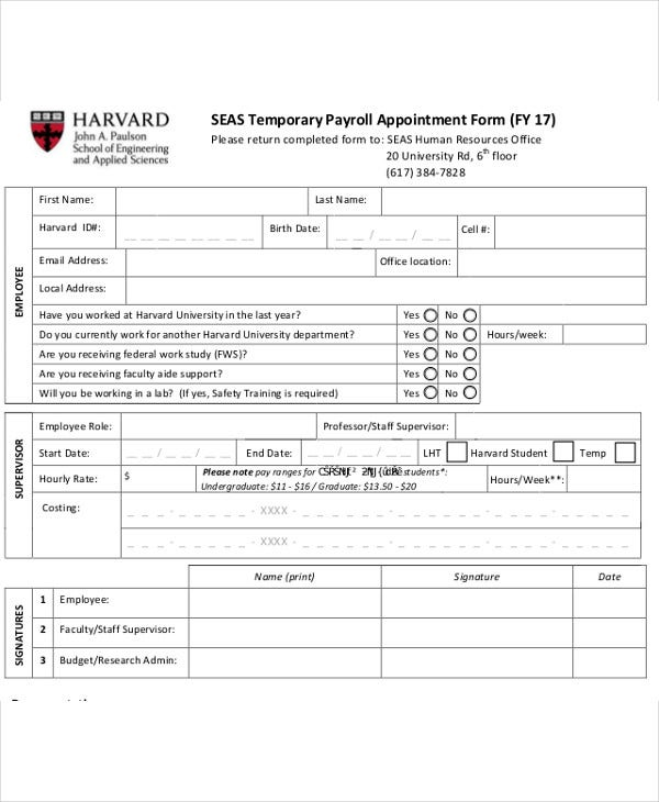 temporary appointment form2