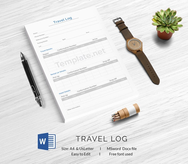 Travel Log Template. Excel Example Of Travel Agency Spreadsheet