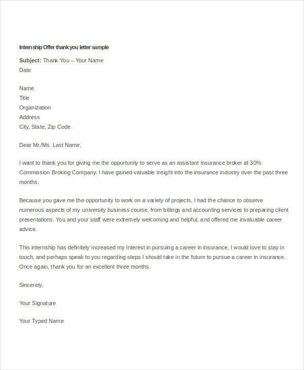 Offer Letter Sample Business Letter Samples Offer Letter Of A