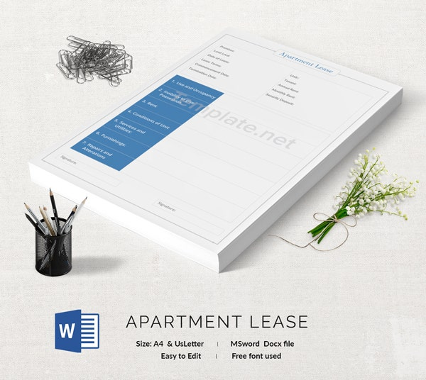 Apartment Lease Template