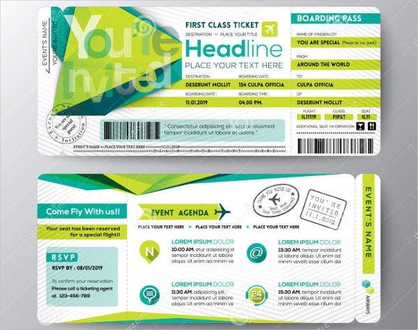 Event Ticket Layout Template