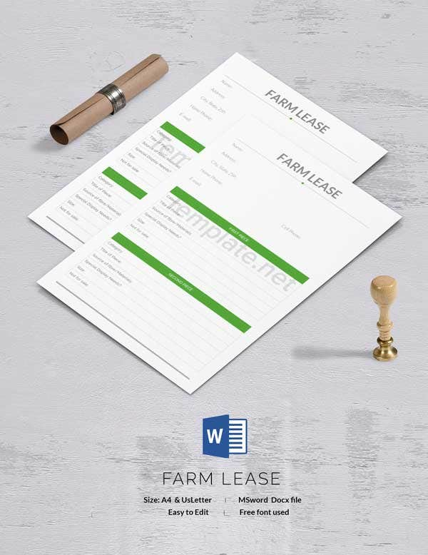 Farm Lease Template