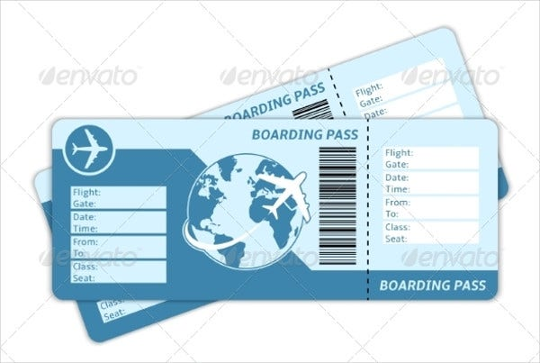 Blank Ticket Layout Design