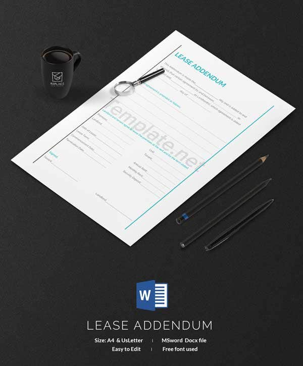 Lease Addendum Template