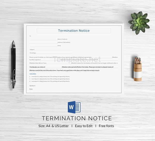 Termination Notice Template