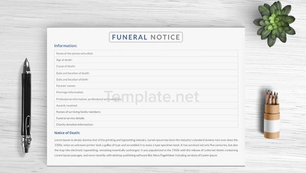 notice templates