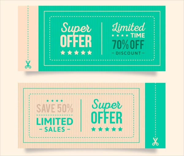 Free Coupon Layout Template  Coupon Layouts