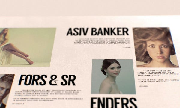 glossy magazine after effects template