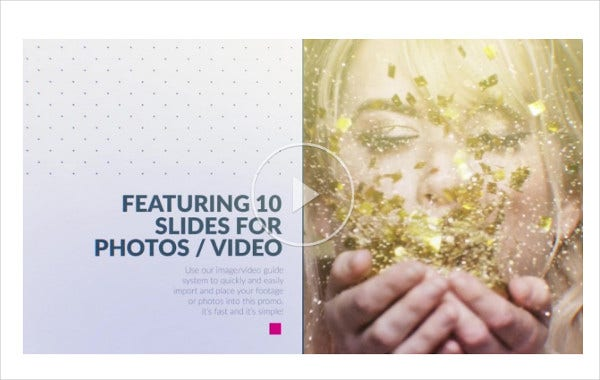 magazine animation after effects template