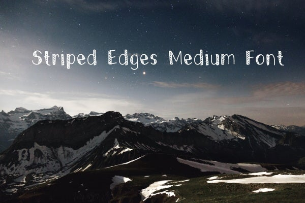 striped-edges-font