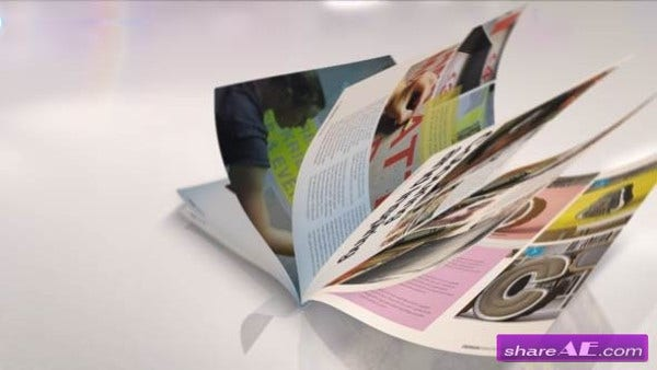 3D Magazine After Effects Template