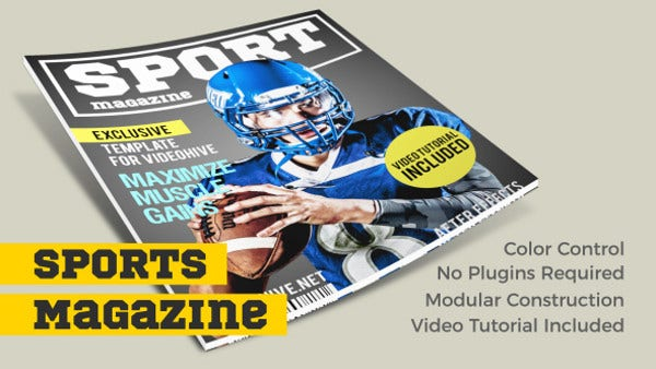 Magazine Promo After Effects Template