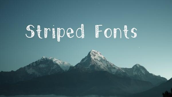 stripedfonts