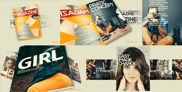 Magazine Pages After Effects Template