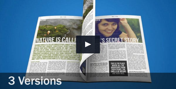 Magazine Flip After Effects Template