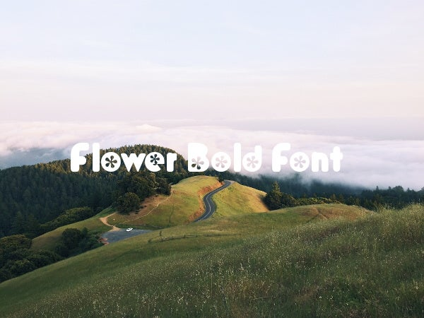flower-bold-font