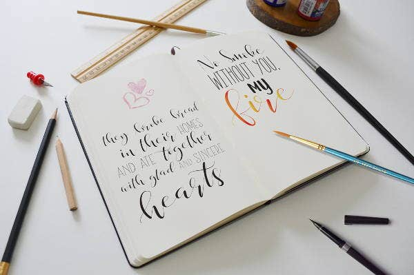flower-calligraphy-font