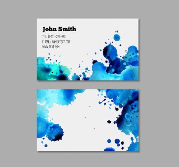 corporate watercolor business card