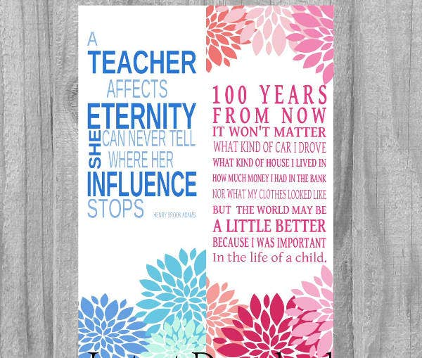 Teacher Gift Bookmark Template