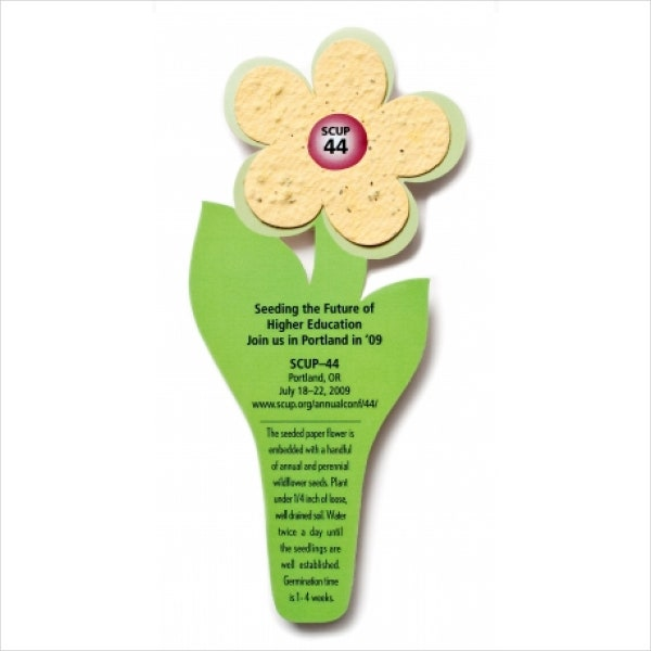 seed-paper-flower-bookmark-template