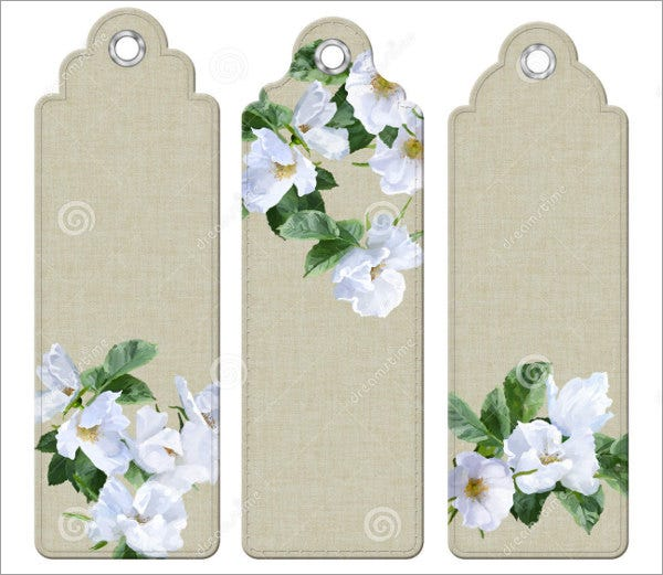 triple-flower-bookmark-template