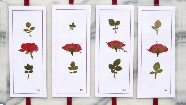 flower bookmark template