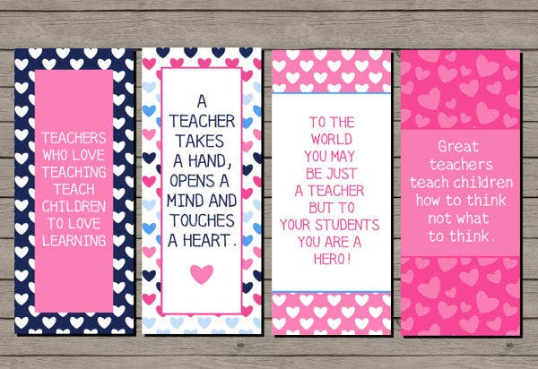 teacher bookmark templates