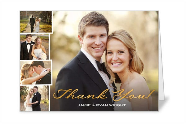 Thank You Sayings Wedding Card