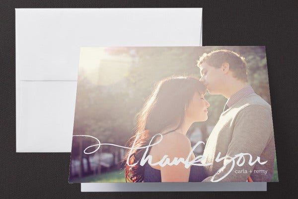 thank you for attending wedding card