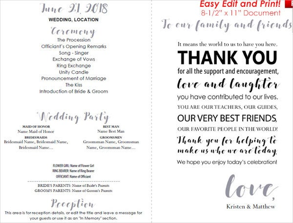 thank you message wedding card