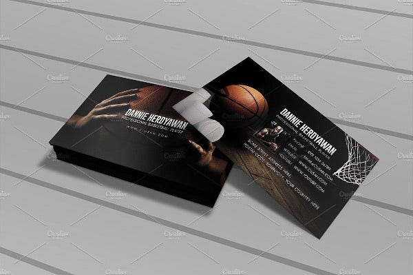 Basketball Player Card Template