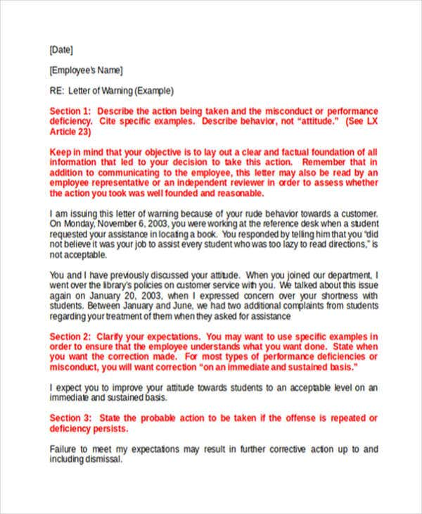 warning letter to business partner template