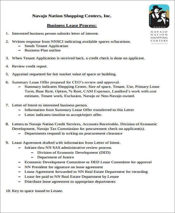 business lease transfer letter template - Job Fair Letter Of Intent
