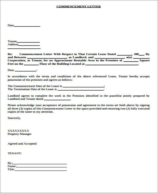 Lease Transfer Letter Template - 6+ Free Word, Pdf Format Download