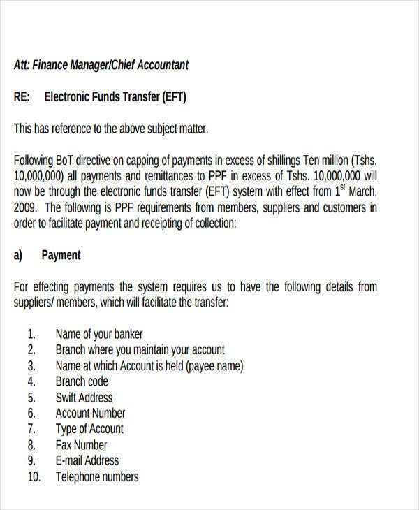 Fund transfer letter template 9 free word pdf format download electronic fund transfer letter template spiritdancerdesigns Gallery