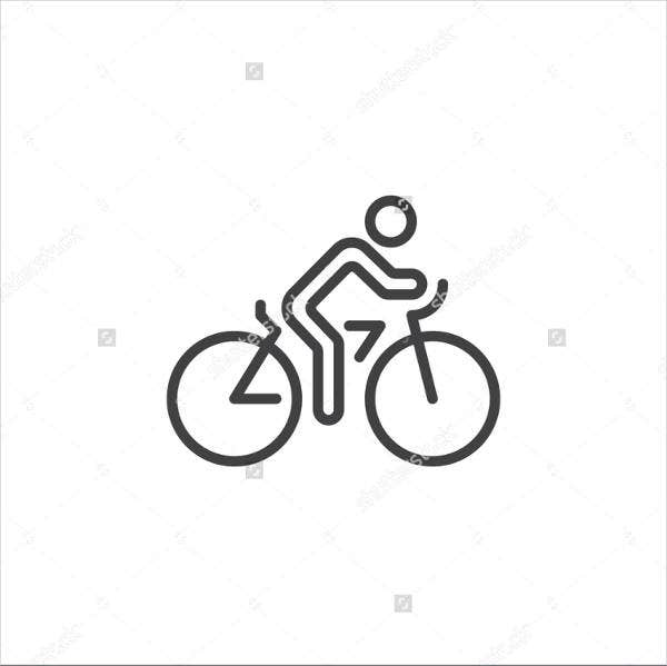 Bicycle Outline Logo