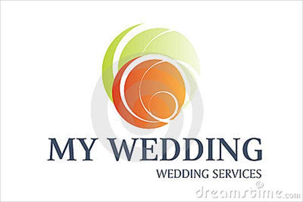 abstract wedding service logo