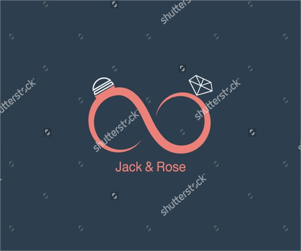abstract vintage wedding logo