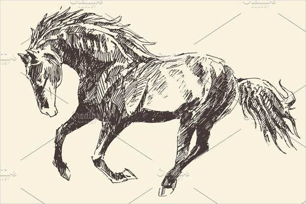 realistic-horse-drawing