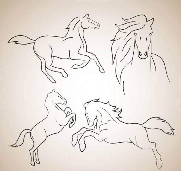 horse-outline-drawing