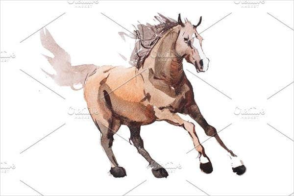 galloping-horse-drawing