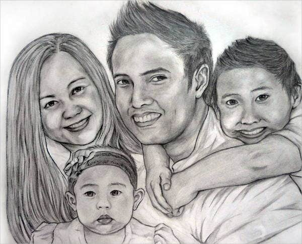 family-portrait-drawing
