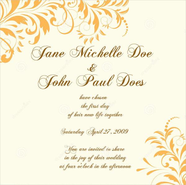 9 wedding invitation card designs templates free premium wedding party invitation card stopboris Gallery